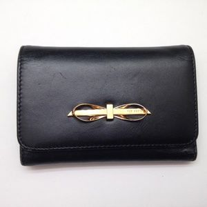 TED BAKER BLACK LEATHER WALLET with bow